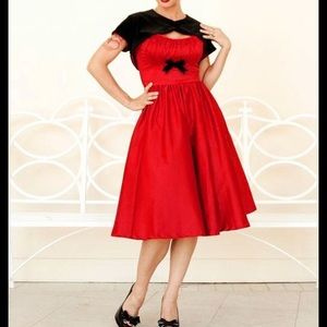 Pinup Couture Pinup Girl Clothing Red Evelyn